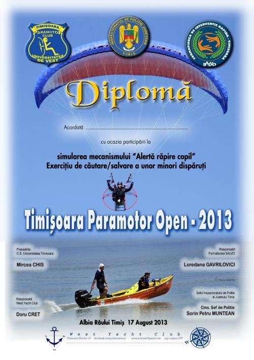 Dipl Timisoara Paramotor Open - Salvo 2013