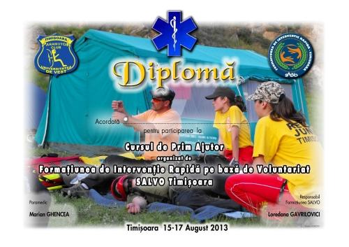 Diploma curs paramedic-paramotor 2013